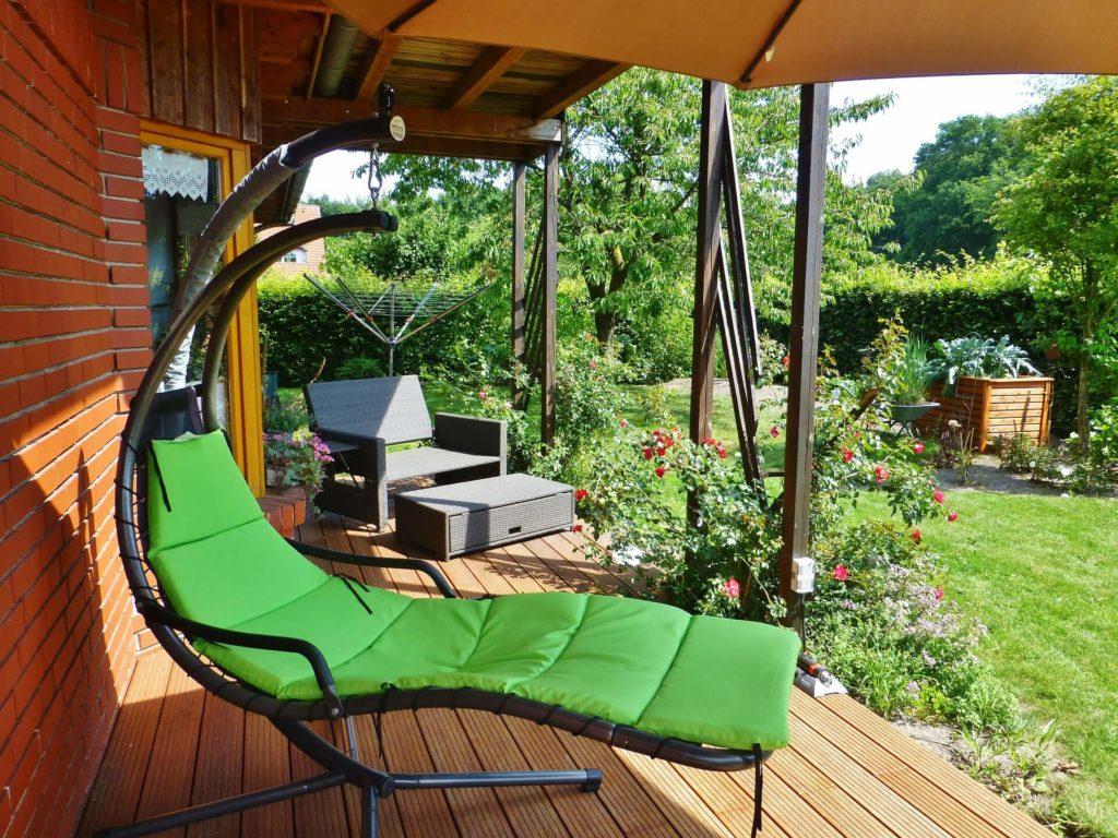 Heerlijk genieten van een tuin als verlengstuk van de woonkamer
